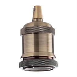 Патрон Ideal Lux Portalampada E27 Ghiera Ottone Brunito 249216