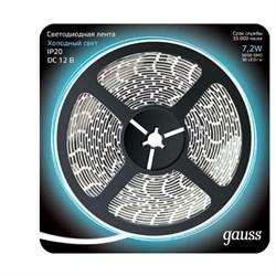 Светодиодная лента Gauss 7,2W/m 30LED/m 5050SMD холодный белый 5M 312000307
