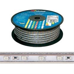 Светодиодная влагозащищенная лента Uniel 8W/m 60LED/m 2835SMD синий 50M ULS-2835-60LED/m-10mm-IP67-220V-8W/m-50M-Blue UL-00000859