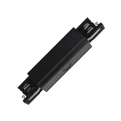 Соединитель для шинопроводов прямой внешний Uniel UBX-A12 Black 09745