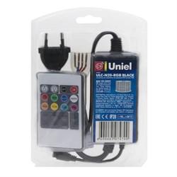 Контроллер для светодиодных RGB лент Uniel ULC-N20-RGB Black 10800