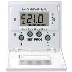 Дисплей термостата с таймером Jung LS 990 белый LSUT238DWW