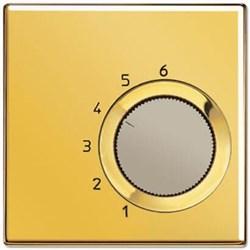 Накладка термостата комнатного Jung LS 990 блеск золота GOTR236PL