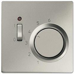 Накладка термостата комнатного с выключателем Jung LS 990 edelstahl ESTR231PL