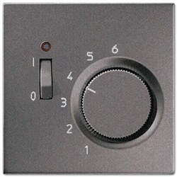 Накладка термостата комнатного с выключателем Jung LS 990 антрацит ALTR231PLAN