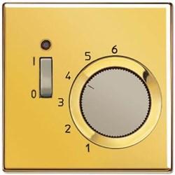 Термостат комнатный 10(4)А 220V НЗ-контакт Jung LS 990 блеск золота TRGO231