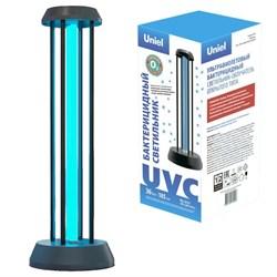 Ультрафиолетовая бактерицидная настольная лампа Uniel UGL-T01A-36W/UVCO Black UL-00007264