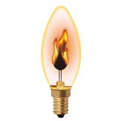 Лампа накаливания Uniel E14 3W золотистая IL-N-C35-3/RED-FLAME/E14/CL UL-00002981