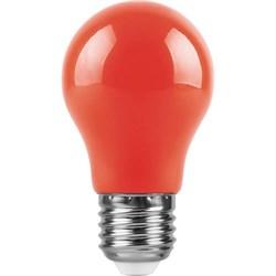 Лампа светодиодная Feron E27 3W красная LB-375 25924