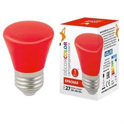 Лампа светодиодная Volpe E27 1W красная LED-D45-1W/RED/E27/FR/С BELL UL-00005638