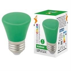 Лампа светодиодная Volpe E27 1W зеленая LED-D45-1W/GREEN/E27/FR/С BELL UL-00005640