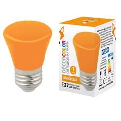 Лампа светодиодная Volpe E27 1W оранжевая LED-D45-1W/ORANGE/E27/FR/С BELL UL-00005642