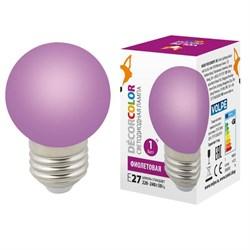 Лампа светодиодная Volpe E27 1W фиолетовая LED-G45-1W/PURPLE/E27/FR/С UL-00005652