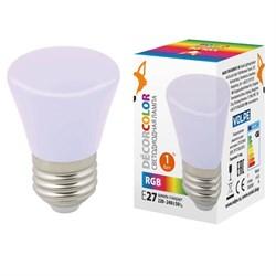 Лампа светодиодная Volpe E27 1W RGB матовая LED-D45-1W/RGB/E27/FR/С BELL UL-00005805