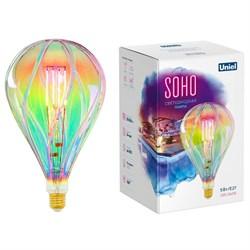 Лампа светодиодная филаментная Uniel E27 5W 2250K LED-SF31-5W/SOHO/E27/CW RAINBOW GLS77RB UL-00005917