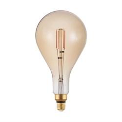 Лампа светодиодная диммируемая филаментная Eglo E27 4W 2200K янтарная 12592