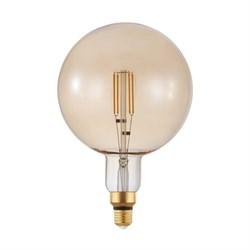Лампа светодиодная диммируемая филаментная Eglo E27 4W 2200K янтарная 12593