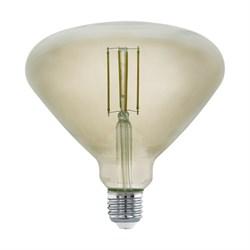 Лампа светодиодная диммируемая филаментная Eglo E27 4W 3000K дымчатая 11841