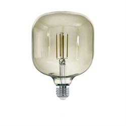 Лампа светодиодная диммируемая филаментная Eglo E27 4W 3000K дымчатая 12597