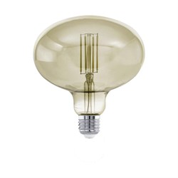 Лампа светодиодная диммируемая филаментная Eglo E27 4W 3000K дымчатая 12599