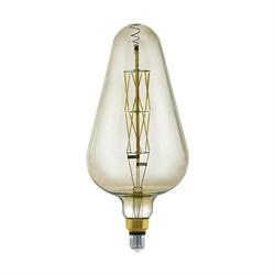 Лампа светодиодная диммируемая филаментная Eglo E27 8W 3000K дымчатая 11842