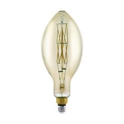 Лампа светодиодная диммируемая филаментная Eglo E27 8W 3000K дымчатая 11843