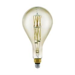 Лампа светодиодная диммируемая филаментная Eglo E27 8W 3000K дымчатая 11844