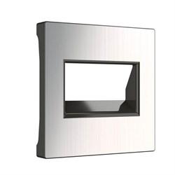 Накладка для двойной розетки Еthernet RJ-45 Werkel глянцевый никель W1191102 4690389158285