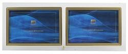 Фоторамка GT 234/-G горизонтальная прямая двойная, золото 10х15 (12/24/720) C0004437