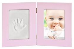 Фоторамка Innova PI07885 Фоторамка 13*18 + набор для лепки Baby Keepsake photo and imprint kit розовая, МДФ Б0032001