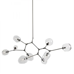 Люстра Branching Bubbles 9 Black by Lindsey Adelman