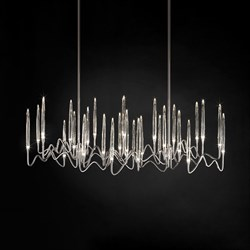 Люстра Long Chandelier Nickel L100 by Il Pezzo Mancante