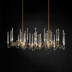 Люстра Long Chandelier Gold L100 by Il Pezzo Mancante