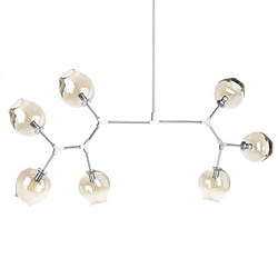Люстра Branching Bubbles 7 Long Nickel by Lindsey Adelman