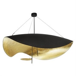 Подвесной светильник Catellani & Smith Lederam Manta S2 black-gold