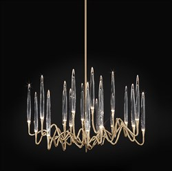 Люстра Round Chandelier Gold D70 by Il Pezzo Mancante