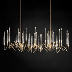Люстра Long Chandelier Gold L120 by Il Pezzo Mancante