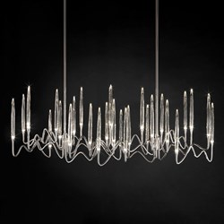 Люстра Long Chandelier Nickel L120 by Il Pezzo Mancante