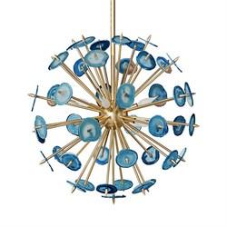 Люстра Agate Burst Chandelier Blue D80