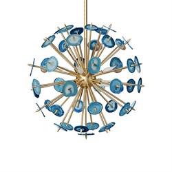 Люстра Agate Burst Chandelier Blue D60