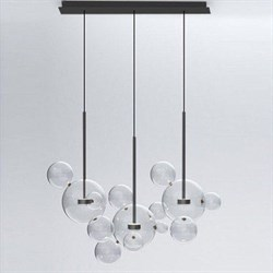 Светильник Bolle Linear 14 Bubbles Black by Giapato & Coombes