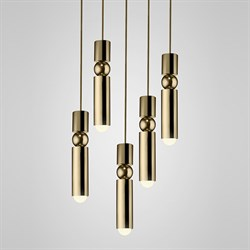 Люстра Fulcrum Light 5 lamps by Lee Broоm Gold