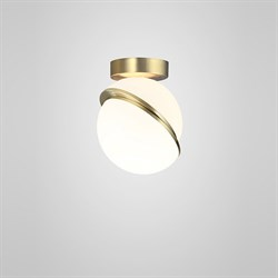 Crescent Ceiling Light  by Lee Broоm Gold