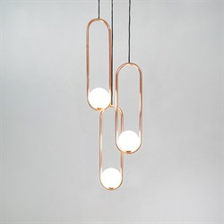 Подвесной светильник Mila Triple Gold D15 by Matthew McCormick