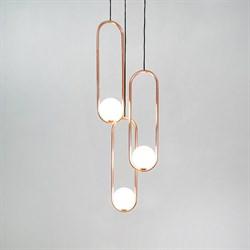 Подвесной светильник Mila Triple Gold D18 by Matthew McCormick