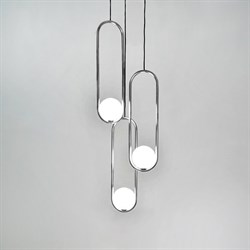 Подвесной светильник Mila Triple Nickel D18 by Matthew McCormick
