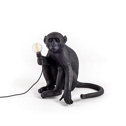 Monkey Table Lamp Black Лампа Настольная