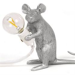 Seletti Big Mouse Lamp #2 Silver H21 Настольная Лампа Мышь