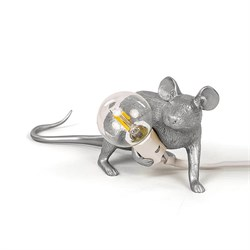 Seletti Mouse Lamp #3 Silver H8 Настольная Лампа Мышь