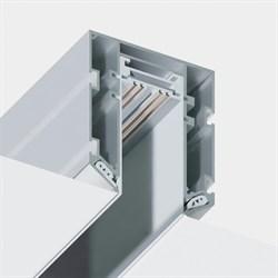 Трековая магнитная система  С39 в профиле для натяжных потолков MEGALIGHT White L=3000mm